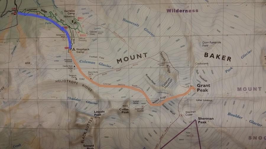 VDI TKNear The Canadian Border - Us map baker peak