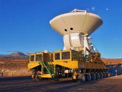 ALMA telescope on a transporter