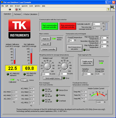 Screenshot of console application