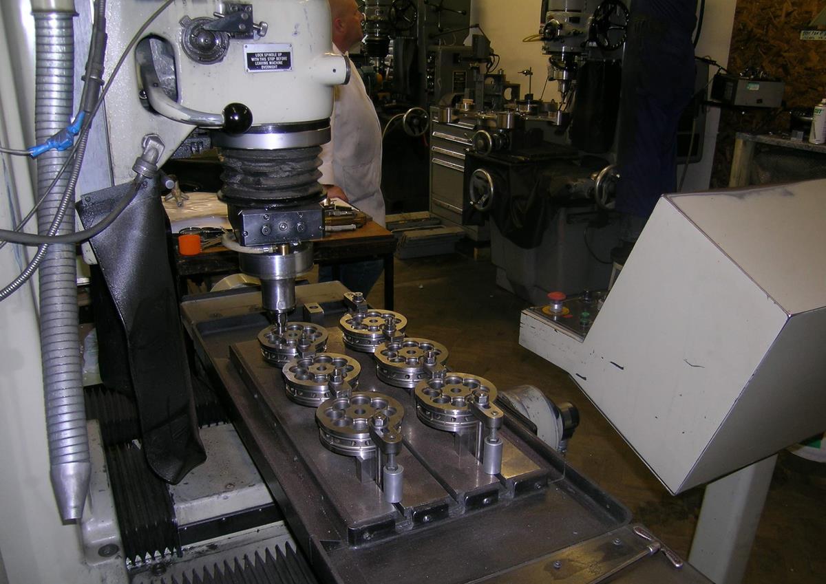 Jig grinding a cavity block at Thomas Keating Ltd